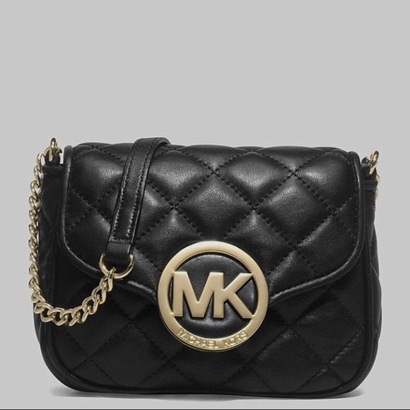 a820721bd330 Michael Kors Bags   Sold Black Quilted Crossbody Bag   Poshmark